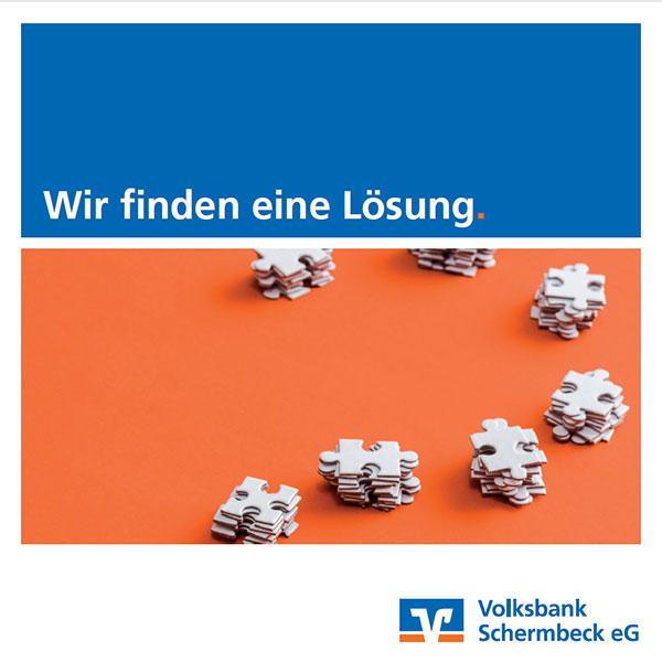 Broschüre Leitbild der Volksbank Schermbeck eG: Wir finden eine Lösung.